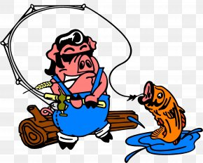 Bbq Pig - Barbecue The Fishin' Pig Pig Roast Clip Art PNG