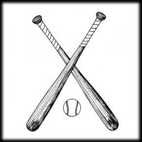 Old Baseball Cliparts - Baseball Bat Batting Softball Clip Art PNG