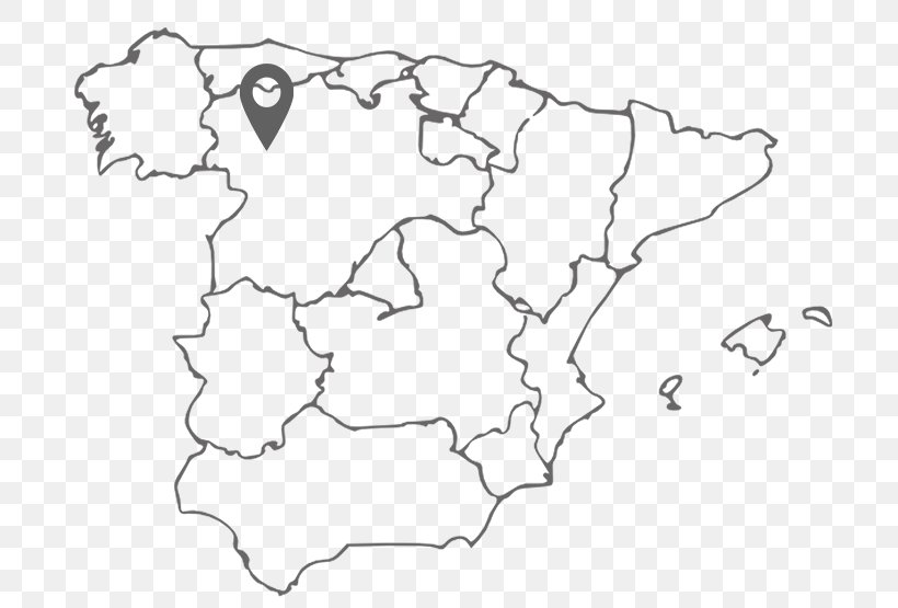 Spain Blank Map World Map Coloring Book, PNG, 700x555px ...