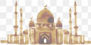Hand Painted Indian Taj Mahal - Ramadan Islam Mawlid Allah Isra And Miraj PNG