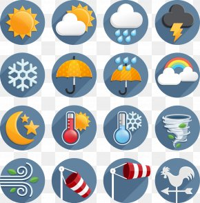 Flat Weather Icon - Weather Forecasting Wind Icon PNG