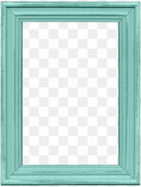 Pretty Blue Frame - Window Picture Frame Text Blue Pattern PNG
