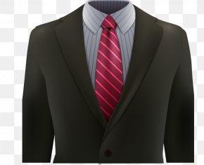 Decorative Red Striped Tie Men's Suits - Tuxedo Suit Formal Wear Necktie PNG