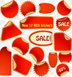 Red Sticker - Sales Euclidean Vector Sticker Icon PNG