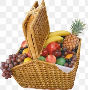 Basket Of Fruit - Clip Art Fruit Food Gift Baskets Hamper PNG