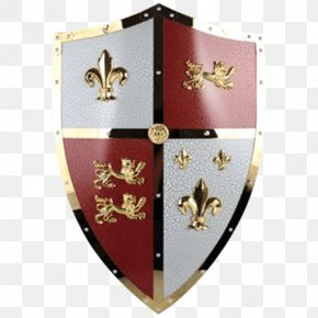 Lion Shield - Crusades Shield Middle Ages Knight Ibelin PNG