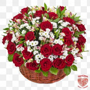 Flower - Flower Bouquet Basket Cut Flowers Rose PNG