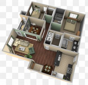 Apartment - Bedroom Apartment House Plan Floor Plan PNG