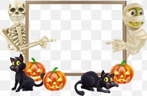 Frame - Halloween Landscape Trick-or-treating Clip Art PNG