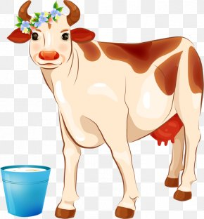 Cartoon Cow - Dairy Cattle Udder Clip Art PNG