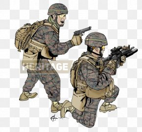 United States - Infantry United States Marine Corps MARPAT Airsoft PNG