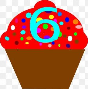 Six - Cupcake Purple Birthday Cake Clip Art PNG