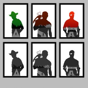 Walking Dead Cliparts - Daryl Dixon Rick Grimes Michonne The Governor Silhouette PNG