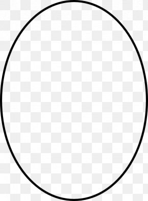 Oval Outline Cliparts - White Circle Area Angle Pattern PNG