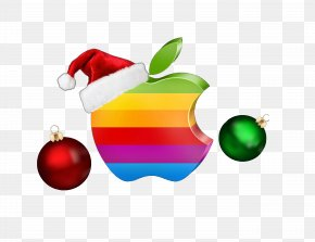 Apple Logo Elements Christmas - Logo Apple Christmas Icon PNG