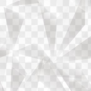 Abstract Geometric Gradient Shading Block - White Symmetry Pattern PNG
