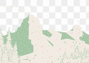 Color Painting Mountains - Paper Painting PNG