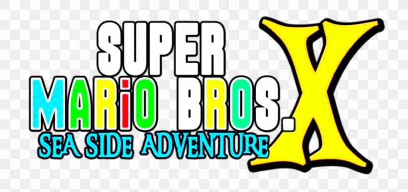 New Super Mario Bros Mario Bros Logo Brand Png 900x424px New