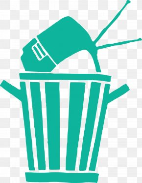 Recycle Bin TV - Television Waste Container Clip Art PNG