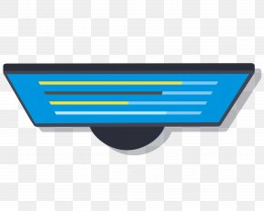 Vector Flattened Blue Computer Monitor - Display Device Computer Monitor PNG