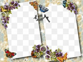 Butterfly Border - Butterfly Picture Frame Clip Art PNG
