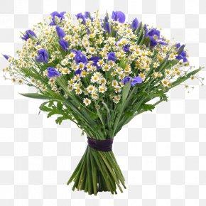 Wildflower Bouquet - Flower Bouquet Gift Matricaria Garden Roses PNG