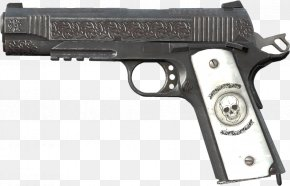 Shock - DayZ M1911 Pistol Weapon Engraving .45 ACP PNG