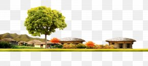 Free Creative Pull Cottage - Flowerpot Floral Design Property Houseplant Tree PNG