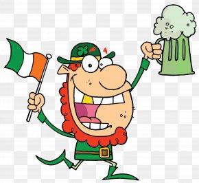Irish - Beer Leprechaun Saint Patrick's Day Clip Art PNG