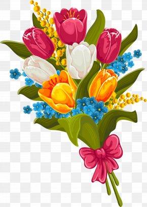 Beautiful Red Bouquet - Flower Bouquet Picture Frame Clip Art PNG