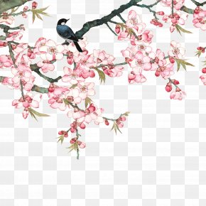 Birds In The Branches - Peach Goods Film PNG