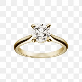 Romantic Wedding Ring - Engagement Ring Cartier Diamond Wedding Ring PNG