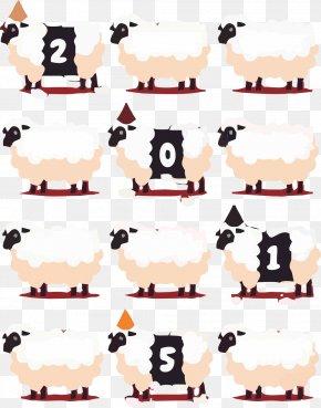 Free Pull Vector Illustration Goat - Goat Sheep Cartoon Illustration PNG