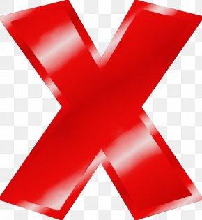 Cross Symbol - Red Material Property Clip Art Ribbon Symbol PNG