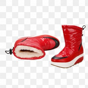 Red Snow Boots - Snow Boot Snow Boot Shoe PNG