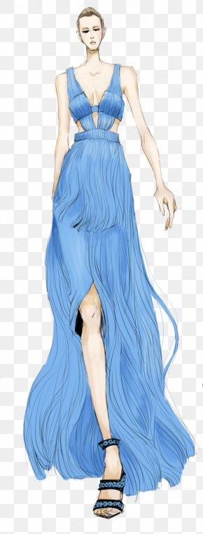 High-end Women's Dress Illustration - Gown Fashion Design Dress PNG
