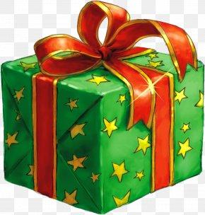 Green Gift Box - Santa Claus Gift Christmas Box Clip Art PNG