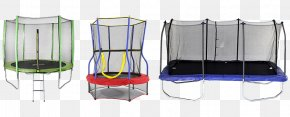 Trampoline - Trampoline Safety Net Enclosure Rectangle Blue Square PNG