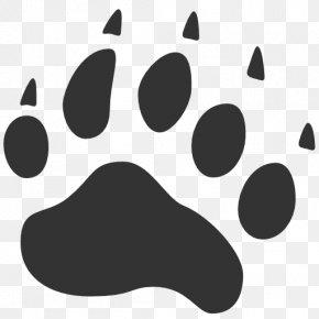 Footprint - American Black Bear Cat Paw PNG