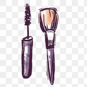 Makeup Brushes - Brush Cosmetics Make-up Lipstick PNG
