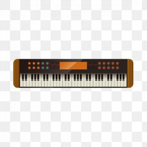 Electronic Piano Keyboard Vector Material - Electric Piano Musical Keyboard Digital Piano Electronic Keyboard PNG