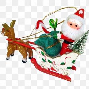 Santa Claus - Santa Claus's Reindeer Christmas Ornament Santa Claus's Reindeer Rudolph PNG