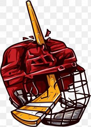 Hand-painted Hockey Helmet - Ice Hockey Sport Hockey Puck Hockey Helmet PNG