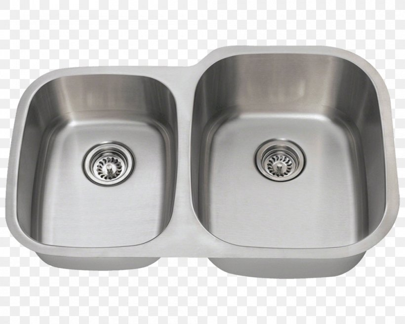 Kitchen Sink Stainless Steel Bowl, PNG, 1000x800px, Sink, Bathroom Sink, Bowl, Brushed Metal, Cabinetry Download Free