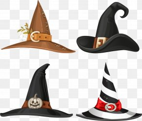 Different Colors Vector Hat - Witch Hat Buckle Stock Illustration PNG