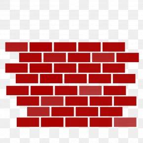 Red Brick Wall - Brickwork Wall Clip Art PNG