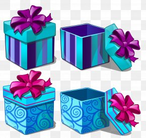 Gift - Gift Box Purple Paper Clip Art PNG