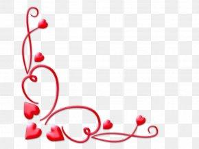 Valentine Corner Cliparts - Valentines Day Heart Clip Art PNG