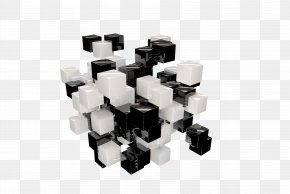Black And White Cube - White Cube Black And White PNG