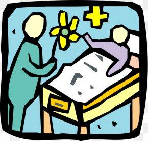 Visitor Bedside Cliparts - Hospital Clip Art PNG
